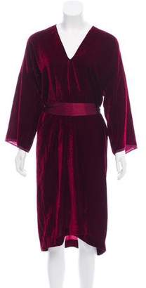 Nili Lotan Velvet Midi Dress