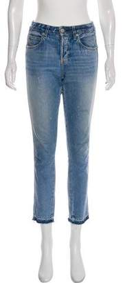 Amo Babe Mid-Rise Cropped Jeans