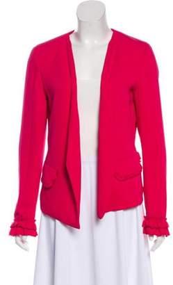 Adrienne Vittadini Long Sleeve Casual Jacket Red Long Sleeve Casual Jacket
