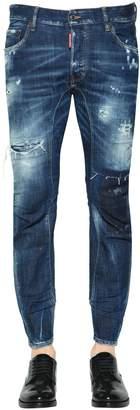 DSQUARED2 17cm Tidy Biker Destroyed Denim Jeans