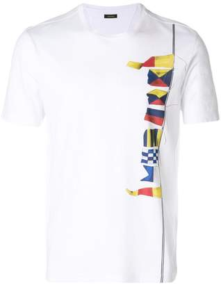 Z Zegna flags print T-shirt