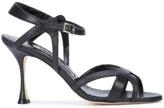 Manolo Blahnik Agara 90 snake embossed sandals