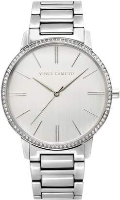 Vince Camuto Crystal-bezel Link Watch