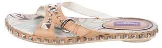 Emilio Pucci Embellished Leather Sandals