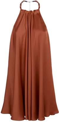 Pinko Satin Halterneck Dress