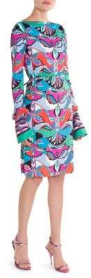 Emilio Pucci Marilyn Printed Jersey Belted Dress