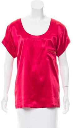 Diane von Furstenberg Short Sleeve Silk Top