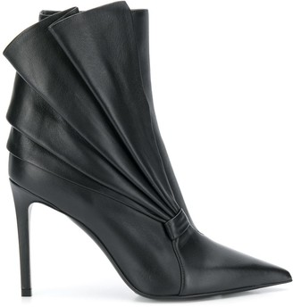 Balmain pleated fan boots