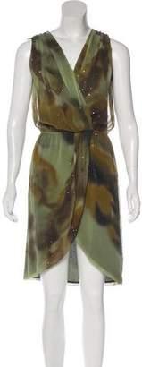 Haute Hippie Silk Hi-Low Dress
