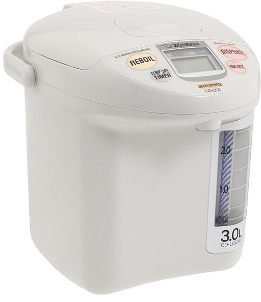 Zojirushi CD-LCC30WG Panorama Window Micom Electric 3 Liter Dispensing Pot (White) - Home