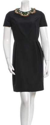 Isaac Mizrahi Embellished Silk Dress Black Embellished Silk Dress