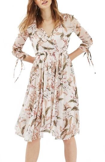 Women's Topshop Lily Floral Mesh Dress