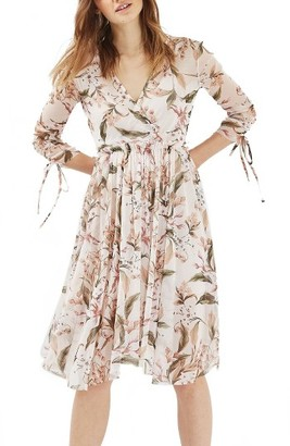Women's Topshop Lily Floral Mesh Dress $95 thestylecure.com