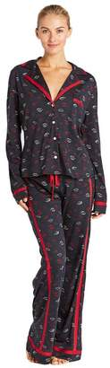 Cosabella Bella Printed Long Sleeve Top Pant Pajama Set