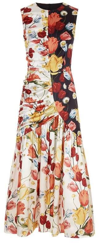 Pauletta Ruched Midi Dress