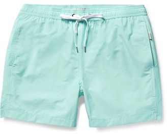 Onia Charles Mid-Length Cotton-Blend Swim Shorts $125 thestylecure.com