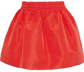 RED Valentino Flared Satin-Faille Mini Skirt
