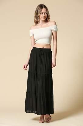Illa Illa Black Maxi Skirt