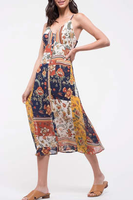 Blu Pepper Patchwork Floral Dress