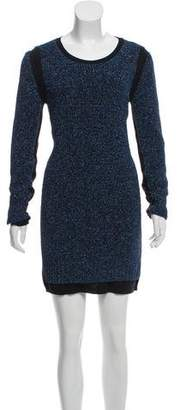 See by Chloe Metallic Wool Dress