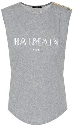 Balmain Exclusive to Mytheresa – Sleeveless printed cotton top