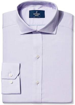 Buttoned Down Men's Fitted Cutaway-Collar Non-Iron Dress Shirt