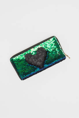 Ardene Two-tone sequined wallet