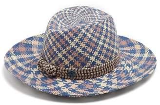 Maison Michel Kate Straw Hat - Womens - Beige Multi