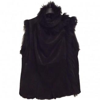 Meteo Black Fur Coat for Women