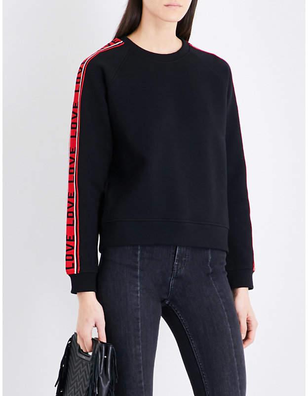 Maje Toska cotton-blend sweatshirt
