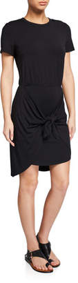 Veronica Beard Bernice Tie-Front Coverup Dress