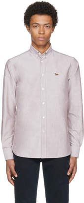 MAISON KITSUNÉ Burgundy Fox Oxford Shirt