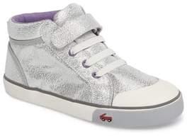 See Kai Run Peyton Metallic Mid Top Sneaker