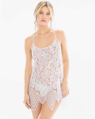 In Bloom Cali Dreamin Sleep Chemise with Panty White