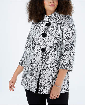 3c69b401484 Plus Size Metallic Jacquard Jacket – SALE  24.99