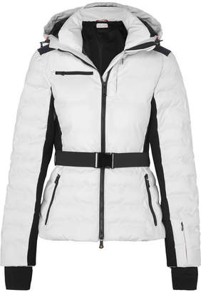 Erin Snow - Kat Color-block Hooded Quilted Jacket - White
