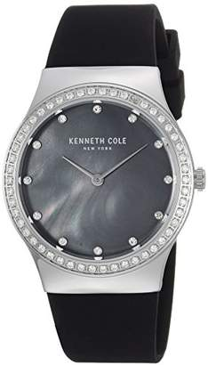Kenneth Cole New York Women's Quartz Stainless Steel and Silicone Casual Watch