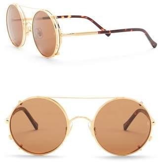 Cat Eye SUNDAY SOMEWHERE Women's Valentine 53mm Round Aviator Sunglasses
