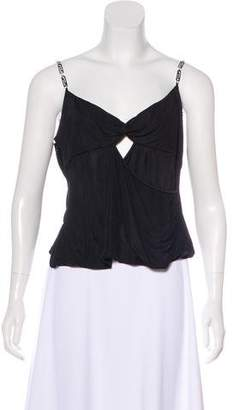 Versace Knot-Accented Sleeveless Top