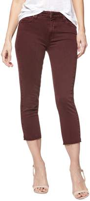 Paige Hoxton Straight Crop Raw Hem Jeans