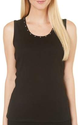 Rafaella Women's Sleeveless Embellished Tank