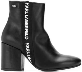 Karl Lagerfeld Paris Lavinia Band Midi boots