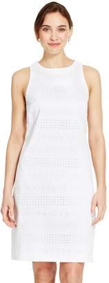 Izod Women's Eyelet Sheath Dress