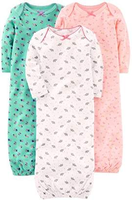 Carter's Simple Joys by Girls' 3-Pack Cotton Sleeper Gown