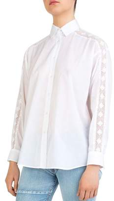 The Kooples Lace-Inset Shirt