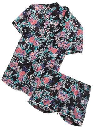 Cosabella Bella Printed Short Sleeve Top Short Pajama Set