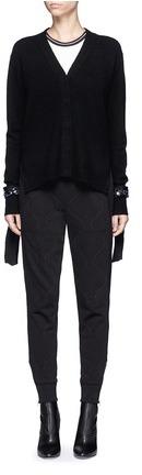 3.1 Phillip Lim3.1 Phillip Lim Sequined silk trim wool blend cardigan