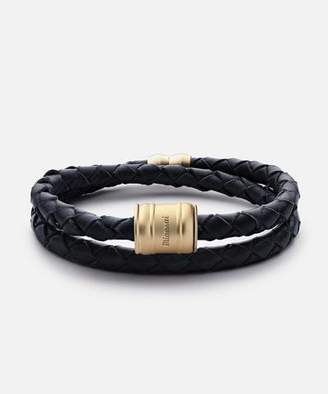 Miansai Leather Matte Gold Casing Bracelet