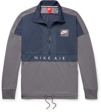 Nike Colour-Block Shell-Trimmed Jersey Half-Zip Jacket
