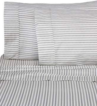 Melange Home 400 Thread Count Bamboo Stripe 4-Piece Sheet Set